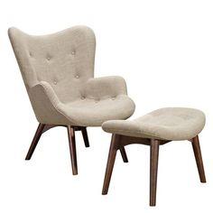 Nye Koncept Furniture 445559-B-142 Oatmeal Gray Aiden Chair