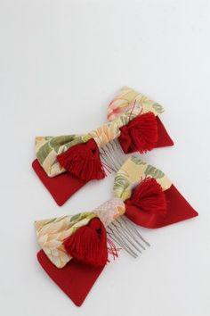 Metamorphose: 2013 Kimono Print Ribbon Hair Comb (set of 2)