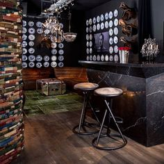 For luxe party pads, the Joker barstool makes for a sophisticated perch whilst relaxing with friends over something shaken, not stirred. #bar #timothyoulton