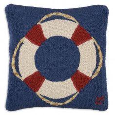 Life Saver Hooked Pillow