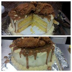 Dinner cake; chicken & cornbread cake