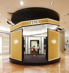 The new Fendi Pop-Up at Galeries Lafayette featuring an exclusive preview of the Fendi Qu Tweet capsule collection