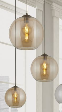 Our Globe Pendant Light Collection: A classically simple glass pendant. Made from a warming Amber coloured glass with an antique brass cord set, the simplicity of this pendant means they can look great in a variety of settings. These Globes are currently available in 3 size variations, perfect for mixing and matching together in clusters.  #AlphaLightingNZ #Lighting #LightingTrends #HomeRenovation #lightinginspo #homedecor  #led #renovation #ledlighting #pendants #pendantlighting… Globe Pendant Light, Mini Pendant Lights, Pendant Lighting, Ceiling Rose, Ceiling Beams, Ceiling Lights, Light Project, Glass Globe, Amber Glass