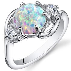 Peora.com - White Opal Ring Sterling Silver Round Shape 1.75 Carats SR11156, $35.00 (http://www.peora.com/white-opal-ring-sterling-silver-round-shape-1-75-carats-sr11156?gdftrk=gdfV23764_a_7c3388_a_7c13204_a_7c41910/)