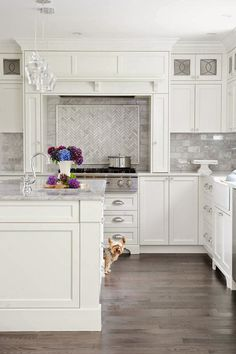 White Kitchen Herringbone Backsplash subway tiles: a love story | herringbone backsplash, herringbone