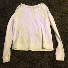 Victoria Secret Pink Top VS Pink like a yellow Tye dye light weight sweater top, size S, worn once Victoria's Secret Tops