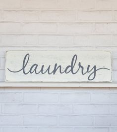 Rustic Laundry Sign Selfservice Laundry' Printed Mirror  #worldmarket Laundry