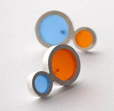 Silver and Resin Earrings €121 - Filip Vanas