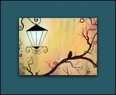 Large Original Painting...A Bit of Calm in the Old City...HUGE Abstract Contemporary Modern Bird Art Diptych by HD Greer. $105.00, via Etsy.