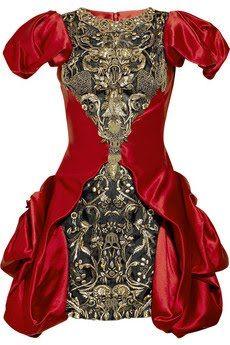 Alexander McQueen baroque dresses