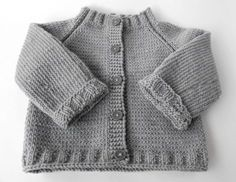 Cute knitted baby cardigan.