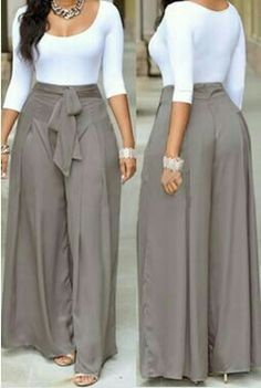 Dress pants outfits - Casual O Neck Three Quarter Sleeves Laceup Twopiece Pants Set(White Top+Silver Bottom) Twopiece Outfits Womens Clothing LovelyWholesale Wholesale Shoes,Wholesale Clothing, Cheap Clothes,Cheap Sho Classy Dress, Classy Outfits, Chic Outfits, Dress Outfits, Dress Pants, Spring Outfits, Latest African Fashion Dresses, African Print Fashion, Africa Fashion