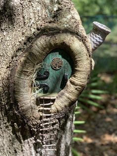 Knothole Door Asian gardens are based on Japanese, Chinese garden design as w… Fairy Tree Houses, Fairy Garden Houses, Gnome Garden, Asian Garden, Chinese Garden, Garden Crafts, Garden Art, Garden Projects, Fairy Garden Doors