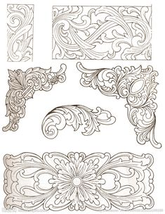 Chinese traditional wood carving patterns design