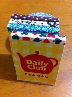 ハンドメイド:TEA BAGで、くっつくメモ帳♡