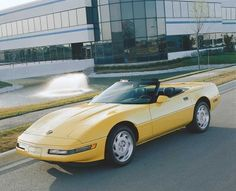 A subtle facelift gave the 1991 Corvette a smoother nose and front-fender