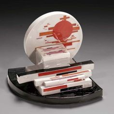 Nikolai Suetin, Suprematist Porcelain inkwell, State Porcelain Factory, Petrograd, about 1923