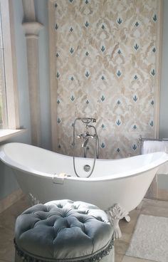 The Talya Collection designed by Sara Baldwin, is a beautiful, lyrical mix of water jet designs that are at home in the bath, kitchen or grand entry. The Talya Collection is a refined study of designs using marble and stone, intertwining into lacework and modern geometries.