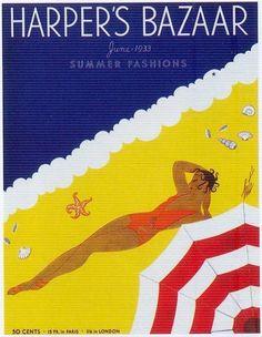 Harpers Bazaar June 1933 Art By Erte