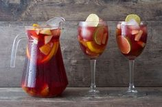 This is a red wine sangria recipe built on ripe, juicy berry-based fruit often found in many red wine varietals. See other options for making sangria.
