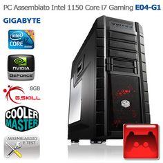 "Intel 1150 Core i7 Gaming ""E04-G1"" CASE:Cooler Master HAF XM PSU: Cooler Master 750W HDD: Toshiba 2TB SATA3 +SSD: Intel 520 Series 240GB SATA3 CPU: Intel Core i7-4770 3.4GHz Socket 1150 CPU COOLER: Corsair Liquid Cooler H80i RAM: G.Skill 8GB 1600MHz MB: Gigabyte Z87X-D3H Socket 1150 VGA: EVGA GTX 770 SC w/ ACX http://www.e-key.it/prod-40583.htm"