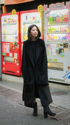 Alice M. Huynh Black Dress & Vest, Maison Martin Margiela Boots   @andwhatelse