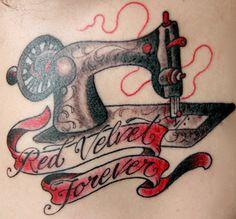 Sewing machine tattoo