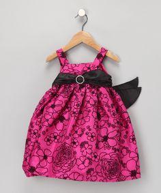 Fuchsia & Black Floral Dress - Infant, Toddler & Girls    $34.99 http://www.zulily.com/invite/dnet219