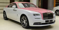 Some exotic automakers refuse to paint their cars pink. Others will gladly… Fancy Cars, Cute Cars, Voiture Rolls Royce, Barbie Car, Rolls Royce Wraith, Bentley Car, Pretty Cars, Car Accessories For Girls, Car Goals