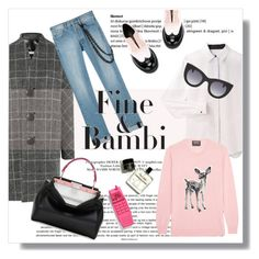 """Fine & Bambi....."" by pam0713 ❤ liked on Polyvore featuring Alexander Wang, Balenciaga, Markus Lupfer, Fendi, L'F Shoes, Thierry Lasry and Moschino"