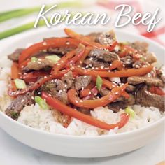 This super easy Korean Beef recipe is ready in just 15 minutes and can be served over rice or completely on its own! Enjoy for dinner or take the leftovers for lunch! Leftover Hamburger Patties Recipe, Leftover Beef Recipes, Korean Beef Recipes, Chinese Recipes, Korean Food, Beef Dishes, Food Dishes, Steak And Rice, Turkey Burger Recipes