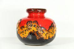 Fat Lava Vase West Germany Scheurich Red by LoveMyVintageBazaar, €55.00