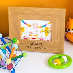 Make it a happy birthday by giving this Personalised Child's Birthday Oak Photo Frame as a special gift for a special child.