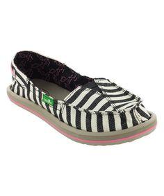 Another great find on #zulily! Black Stripe G Castaway Slip-On Shoe - Kids #zulilyfinds