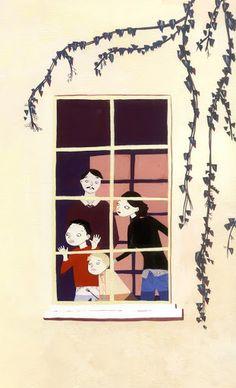 Alexandra Huard window art.