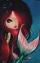 Art: Shy Little Beauty by Artist Nico Niemi
