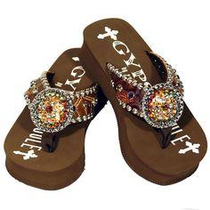 7adb1573b6b8 Gypsy Soule Brown Bullseye Sandal Price   341.00
