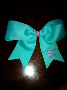 Tiffany blue monogrammed bow = perfection
