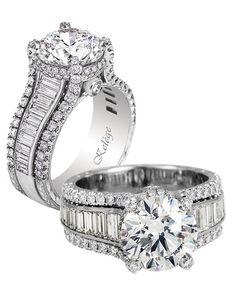 Jack Kelege Round Cut Engagement Ring