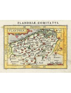 Abraham Ortelius map of Vlaanderen / Flanders from rasmussen-maps.com