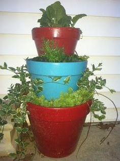 DIY garden tiered planter : DIY Tiered Planter
