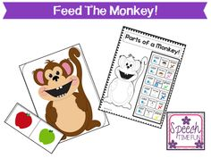 Feed The Monkey! (Great for students with Autism, ABA, and those working on following directions
