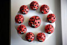 Sara Bakes Cakes - Cupcakes for Kids - Eliza's lady bug cupcakes