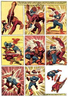 Captain America vs. Batroc by Jack Kirby