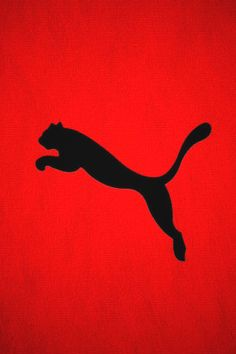 Puma Logo in Red Background iPhone Wallpaper Download