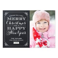 Very Merry Christmas Chalkboard Holiday Photo Card Personalized Announcement http://www.zazzle.com/very_merry_christmas_chalkboard_holiday_photo_card_invitation-161688683953730670?printquality=4color&rf=238675983783752015