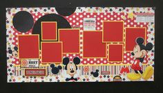Mickey Mouse Scrapbook page -- love how many pictures you can get in this layout
