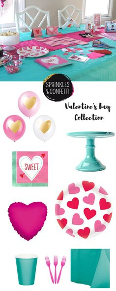 Valentine's Day Collection | Pink Hearts | Pink & Aqua | Kind Hearts & Sweet Treats