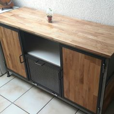 Industrial wood and steel furniture