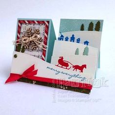 Jingle All the Way Side Step Card - Stampin Up